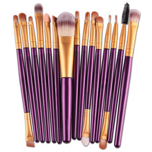 15Pcs Eye Makeup Brushes Set Eyeshadow Blending Brush Powder Foundation Eyebrow Lip Eyeliner Brush Cosmetic Tool Maquiagem