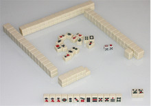 20*14mm Mini Chinese Mahjong Tiles 144pcs/set Tin Box