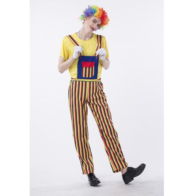 SESERIA Halloween adult clown costume clown suit masquerade costume cosplay magic show bloody funny striped clown  sc 1 st  AliExpress.com & SESERIA Halloween adult clown costume clown suit masquerade costume ...