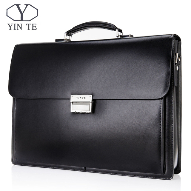 de471b556379 YINTE Men s Leather Briefcase 15