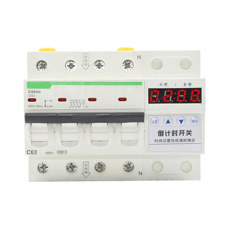 Numérique intelligent 3 phase 4 fil cutdown minuterie 32A/63A 15000-35000 W charge disjoncteur avec minuterie 00:01 -99: 00 heures