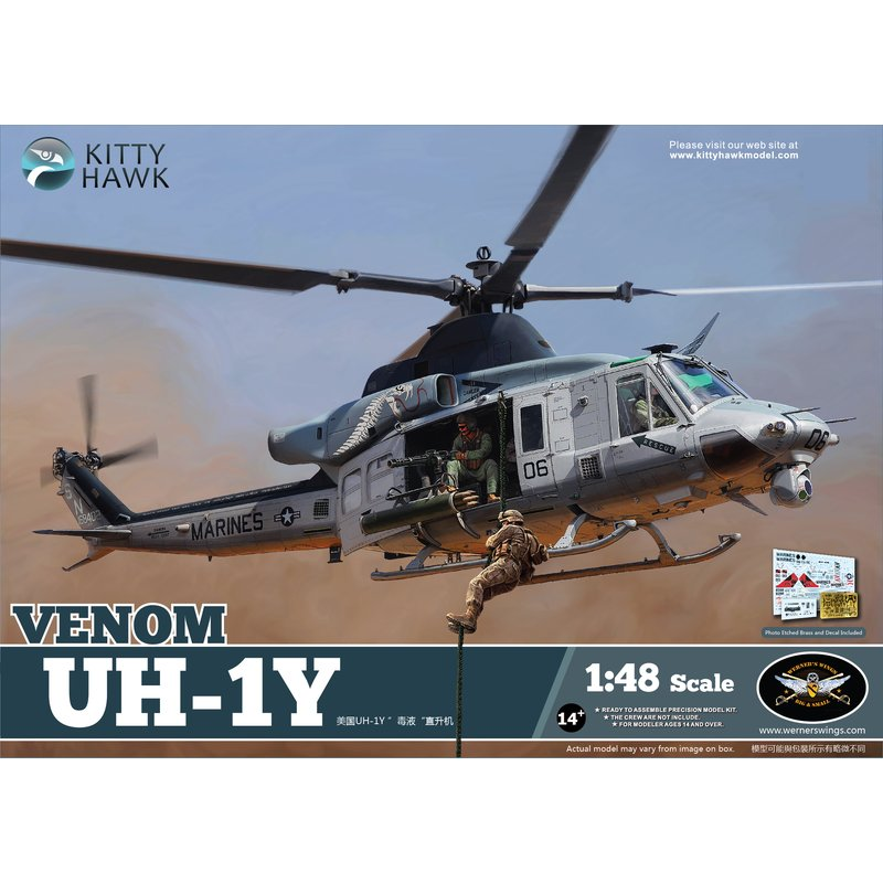 Kitty Hawk KH80124 1 48 UH 1Y Venom Helicopter Scale Model Kit