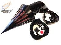 Aftermarket free shipping motorcycle parts Air Cleaner Kits filter for Kawasaki Vulcan 1500 1600 Classic 2000 2012 Black