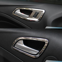 цена на For Ford Escape Kuga 2013 2014 2015 2016 2017 2018 ABS Chrome Car inner door Bowl protector frame Cover Trim car accessories