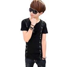 Non Mainstream Fashion Long Sleeve Brand T-shirt Men Style 2016 T-shirt Hip Hop T Shirt Men Summer Nightclub Black Rock Shooter