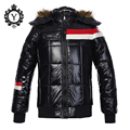 COUTUDI 2016 New Arrival Children Down Jacket And Coats Shiny Solid Black Cotton-padded Coat Parkas High Quality Winter Boy Coat