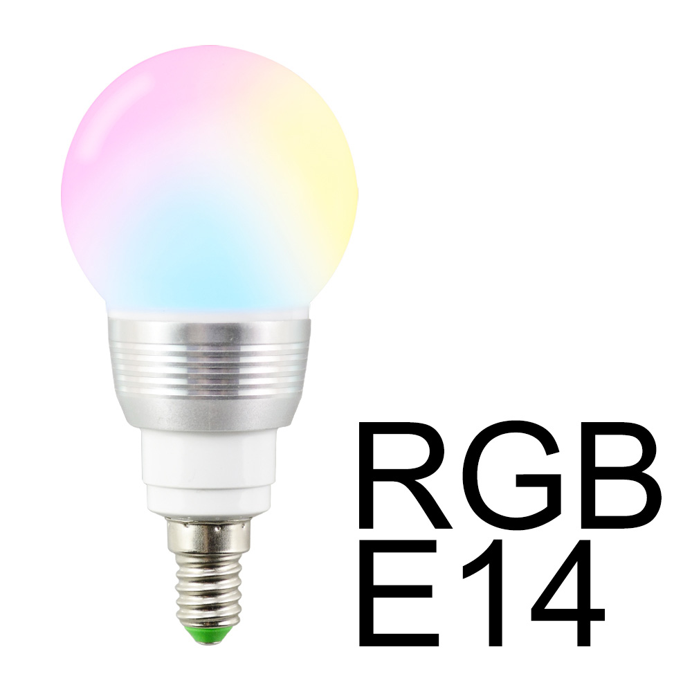 E14 RGB LED Bulb Light 5W LED Lamp+IR Remote Control For Home Party Stage Decor