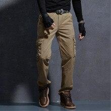 Весна Осень Новые военные брюки карго мужские хлопковые повседневные тонкие однотонные модные тактические мужские s брюки комбинезоны