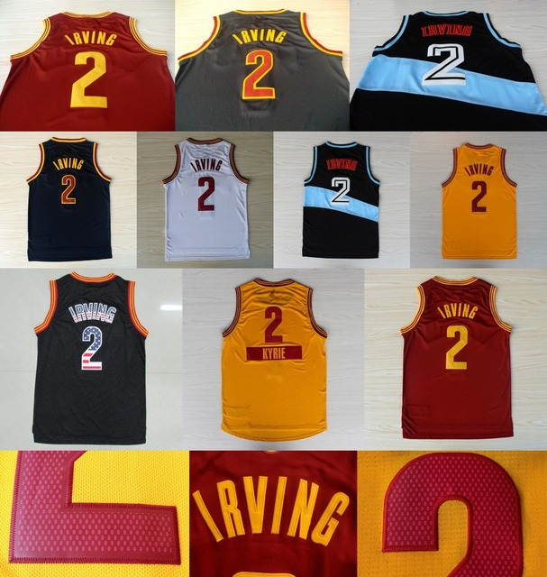 5b3516c58 2 Kyrie Irving Jersey Yellow White Black Red Retro Men Irving Shorts High  Quality Basketball Jersey Best Quality Online