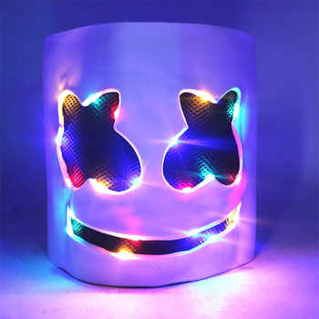 DJ marshmello masks light Headgear mask marshmello helmets cosplay Halloween Carnaval for marshmello DJ Holiday party - DISCOUNT ITEM  25% OFF All Category
