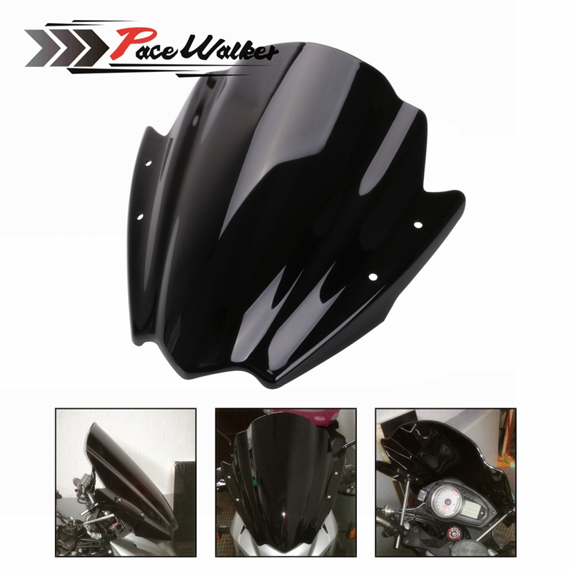 Free shipping Universal black motorcycle windshield 7 8 and 1 Steering wheel for motorcycles mount for