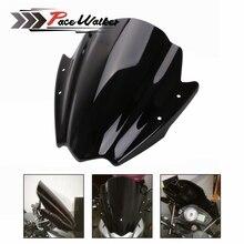 """Универсальный черный мотоцикл лобовое стекло 7/"""" и 1"""" Руль для мотоциклов крепление для HONDA BMW Yamaha KTM"""