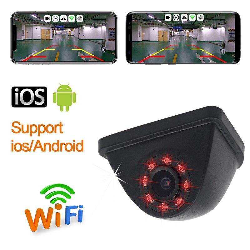 1 PC voiture Zone aveugle vue latérale caméra LED Wifi nuit étanche HD rétroviseur grand Angle recul sauvegarde Parking Auto caméra