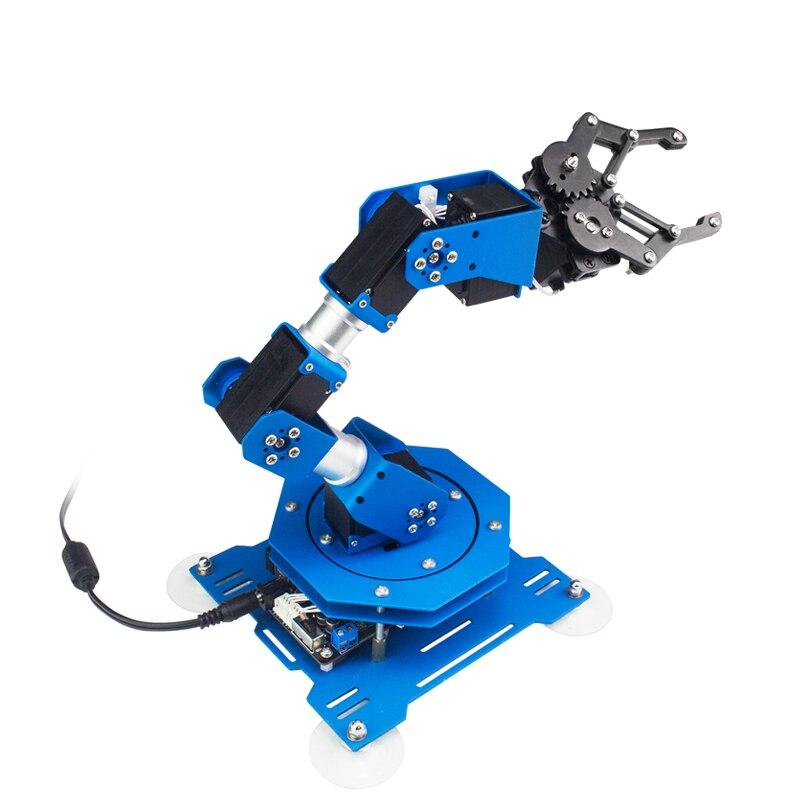 Oyuncaklar ve Hobi Ürünleri'ten Parçalar ve Aksesuarlar'de 6 DOF Servo robot kol El Arduino Scratch Kiti ile XArm Uzaktan Kumanda eğitim robotu Oyuncaklar'da  Grup 1
