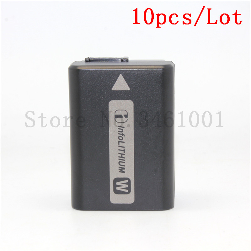 10pc lot NP FW50 NP FW50 Camera Battery For SONY A5000 A5100 A7R NEX 6 7