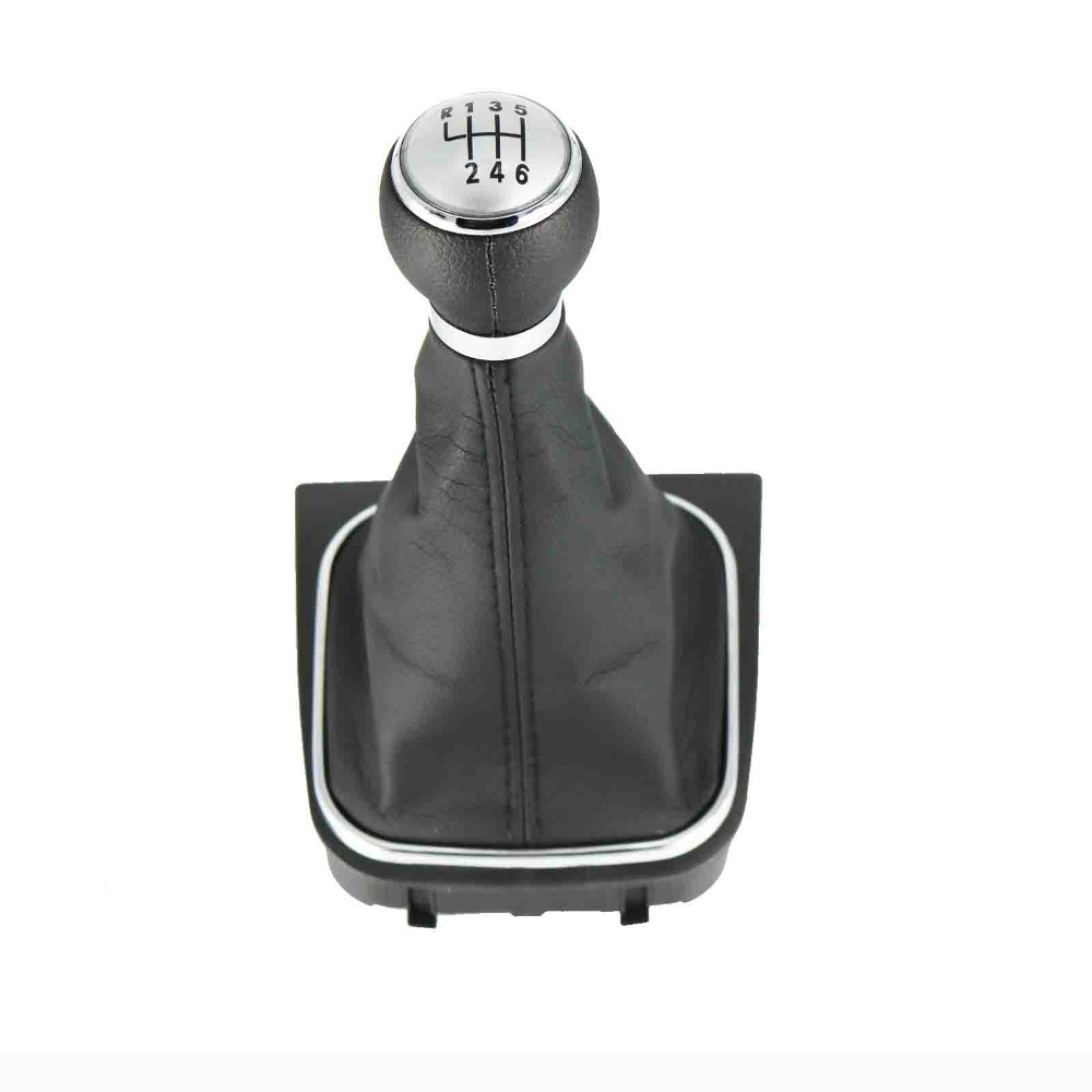 Gear Shift Knob Silvery Cap 6 Speed 12mm For VW <font><b>Golf</b></font> <font><b>5</b></font> <font><b>Golf</b></font> 6 2006 <font><b>2007</b></font> 2008 2009 2010 2011 2012 2013 2014 image