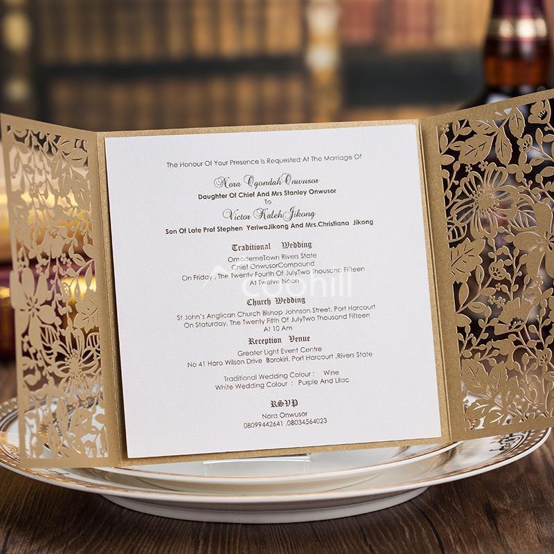 50 sets Card envelop seal Luxury Cutout Flower Wedding Invitations Cards Engagement Gatefold Invites Wedding Favors aliexpress com buy 50 sets(card envelop seal)luxury cutout,Luxury Invitation Cards