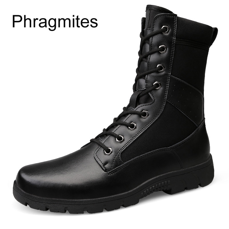 Phragmites genuine leather army boots new soft unisex plus size botas elegant sexy beautiful woman shoes wedges shoes for women