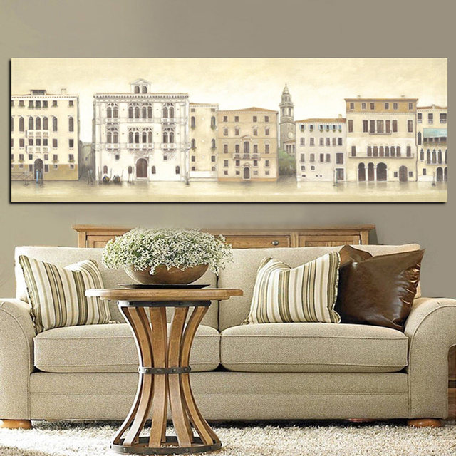 HD Print Canvas Art Abstract Sketch Venice City Seascape Building Landscape Painting Modern Wall Picture Poster ...