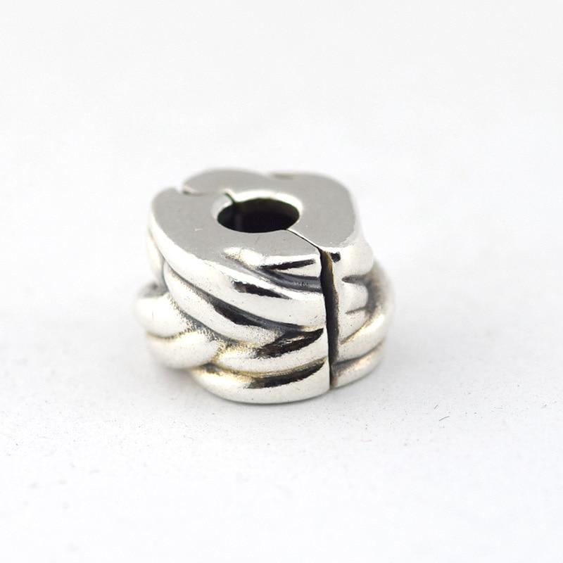 81759ed97d70 Se adapta a Pandora pulseras plata trenzado Cuentas 100% real 925 plata  esterlina Amuletos DIY joyas al por mayor