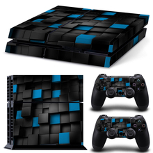 Hot Selling Removable Decal Film Skin Sticker Cover Protector For Playstation 4 PS4 For PS4 Console 2 Controller NEW Full Body z33 light design protector skin decal sticker for ps3 playstation 3 body console