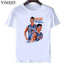 2017t-shirt short-sleeve T-shirt Jeremy Lin tee shirt men & women freeshipping s jersey away top