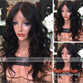 Black loose Wave Synthetic Lace Front Wig Middle Part Natural Hairline Heat Resistant Synthetic Wigs for Black Women