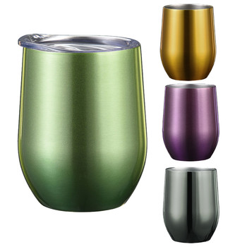 9oz Wine Tumbler Easy to Carry With Strap And Human Design for Coffee And Cocktails