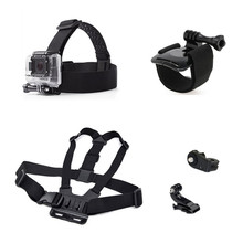 Camera Accessories Set Adjustable Chest Strap+Head Strap+Wrist Strap Mount Adapter for Gopro Hero 7/6/5/4/3/3+/2 SJCAM Xiaomi Yi