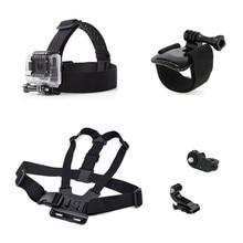 купить Camera Accessories Set Adjustable Chest Strap+Head Strap+Wrist Strap Mount Adapter for Gopro Hero 7/6/5/4/3/3+/2 SJCAM Xiaomi Yi дешево
