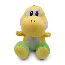 цены 25CM Super Mario Bros Yellow Yoshi Stuffed Plush Toys Soft Stuffed Doll For Kids