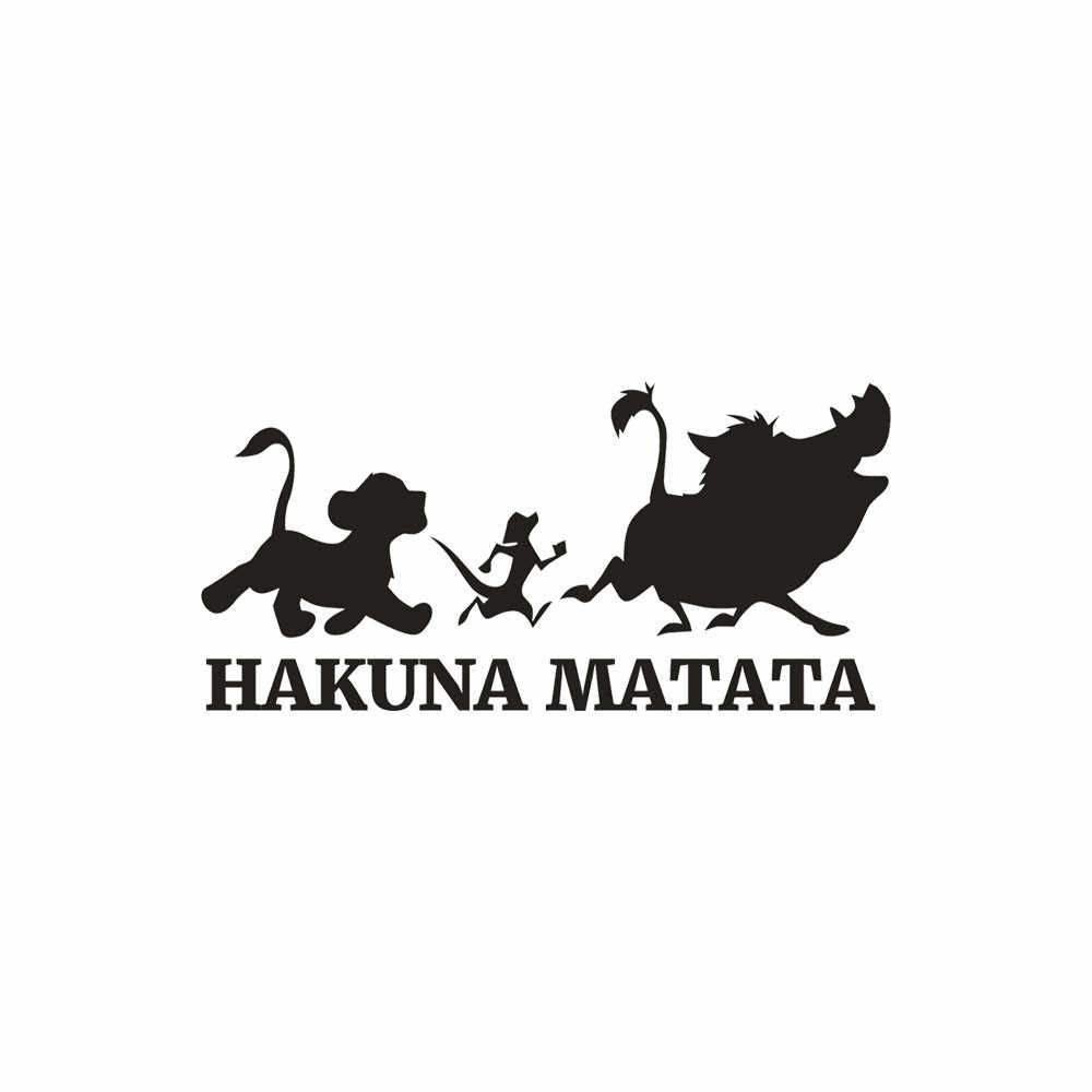 The Lion King Saying Hakuna Matata No Worry Quote Wall