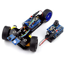 New DIY Wireless Telecontrol Three-wheeled Smart Car Robot Kit for Arduino 2.4G Freeshipping headphones diy diykit(China)