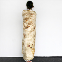 BeddingOutlet 3D Corn Tortilla Blanket Pita Lavash Food Flannel Blanket for Bed Fleece Throw Funny Plush Bedspreads wholesale