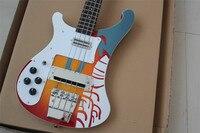 Fabryka Klienta Rickenback Leworęczny 4003 niestandardowe 4 strings ricken bass gitara Basowa Gitara Elektryczna darmo shiping