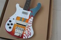 Left Handed Factory Custom Rickenback 4003 custom 4 strings Bass Electric Guitar ricken bass free shiping
