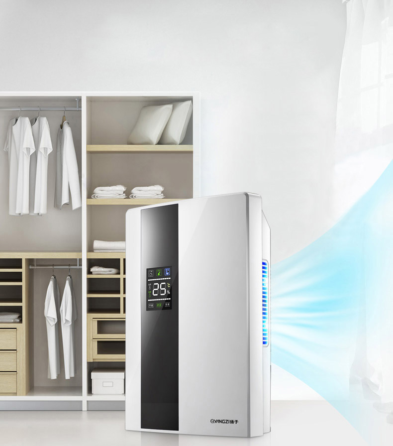 Déshumidificateur Déshumidificateur intérieur Muet Chambre Sous-Sol Mini-Absorption D'humidité Sèche-Grand Écran LCD Externe Conduites D'eau