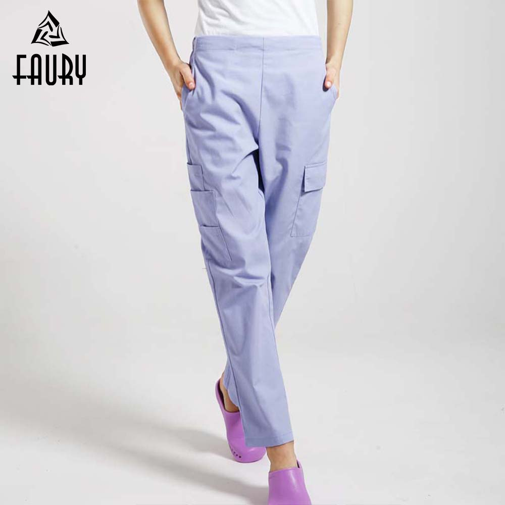 High Quality Nurse Pants Multi-pocket Pants Doctor pants Operating Room Pants Trousers for Men Women General Lab Work Trousers