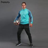 High Quality Tracksuit Football 2017 Men Soccer Training Jacket Suits Adult Customize Uniforms Kits Winter Sportswear