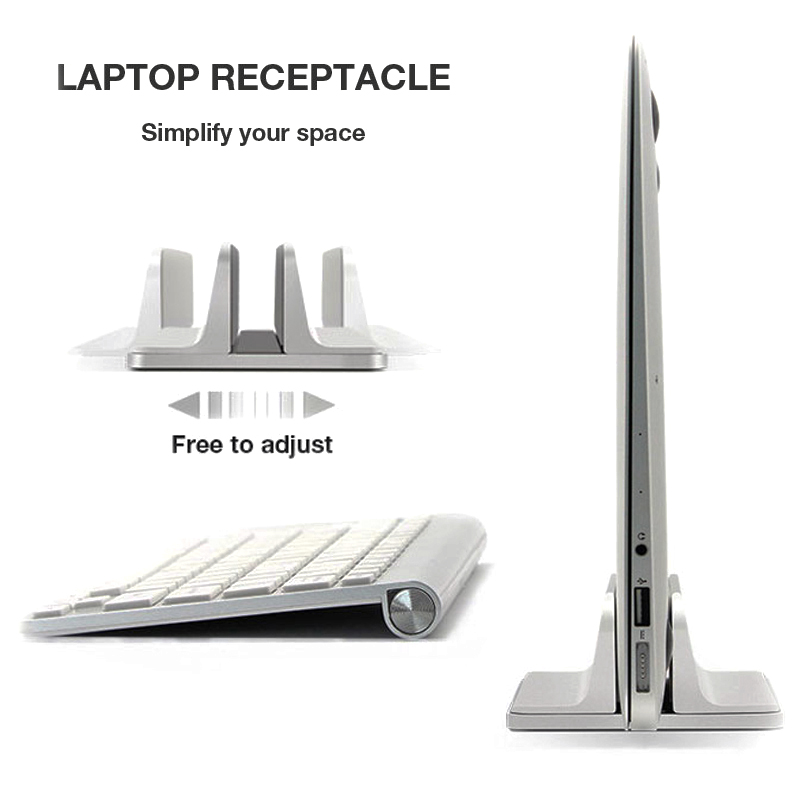 Aluminum Vertical Laptop Stand Thickness Adjustable Desktop NoteBooks Holder Erected Space-saving Stand for MacBook Pro/Air все цены