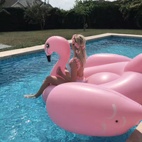 190CM Inflatable Flamingo Giant Pool Float for Adult Pool Toys Water Party Summer Ride On Swimming Ring Gonflable Piscina Boias