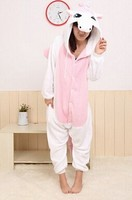 Women Mens Animal Cosplay Blue Fluffy Minion Unicorn Costume Adult Unicorn Pajamas Onesie