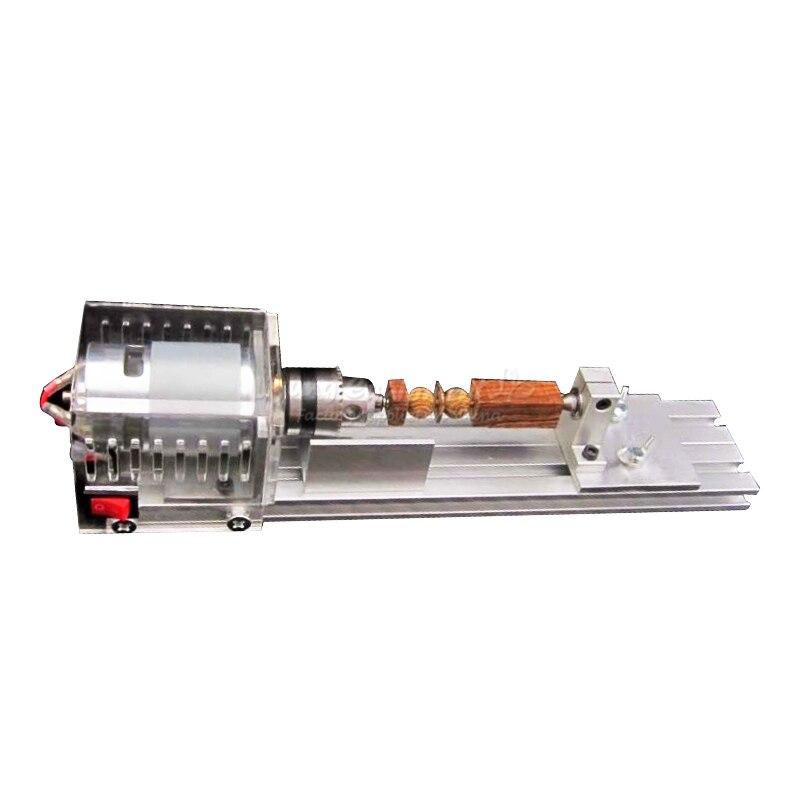 DIY wood lathe cutting machine C00108 mini cnc lathe