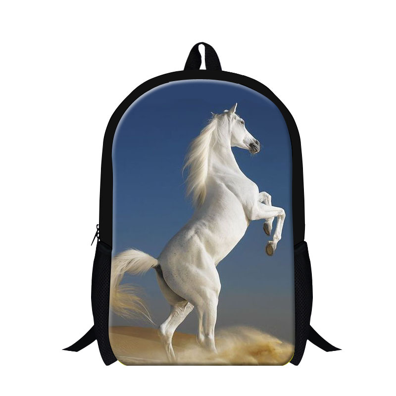 Dispalang horse 3D printing backpacks for teen boys,Girls cool book bag,day back pack for elementary student Animal Schoolbag