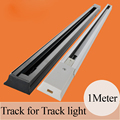 10pieces/lot 1 Meter 2 Wires Aluminum Track Lights Rail,Lighting Fixtures Track for LED Track Lamps White Black Color For Choice