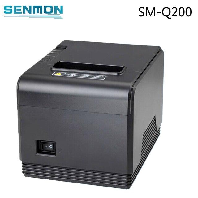 Высокое качество принтера 80 мм тепловая чековый принтер Маленький билет принтер штрих-кода XP-Q200 POS принтер автоматической резки shopPrinter