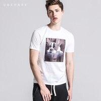 U&SHARK Fashion Dog Printed T Shirt Men Short Sleeve Cartoon Tshirt Street Style O Neck Cotton T-shirt Male Camisetas Hombre
