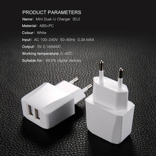hot deal buy dual usb charger, mobile phone eu charger plug travel wall charger adapter for iphone ipad samsung xiaomi phone charger