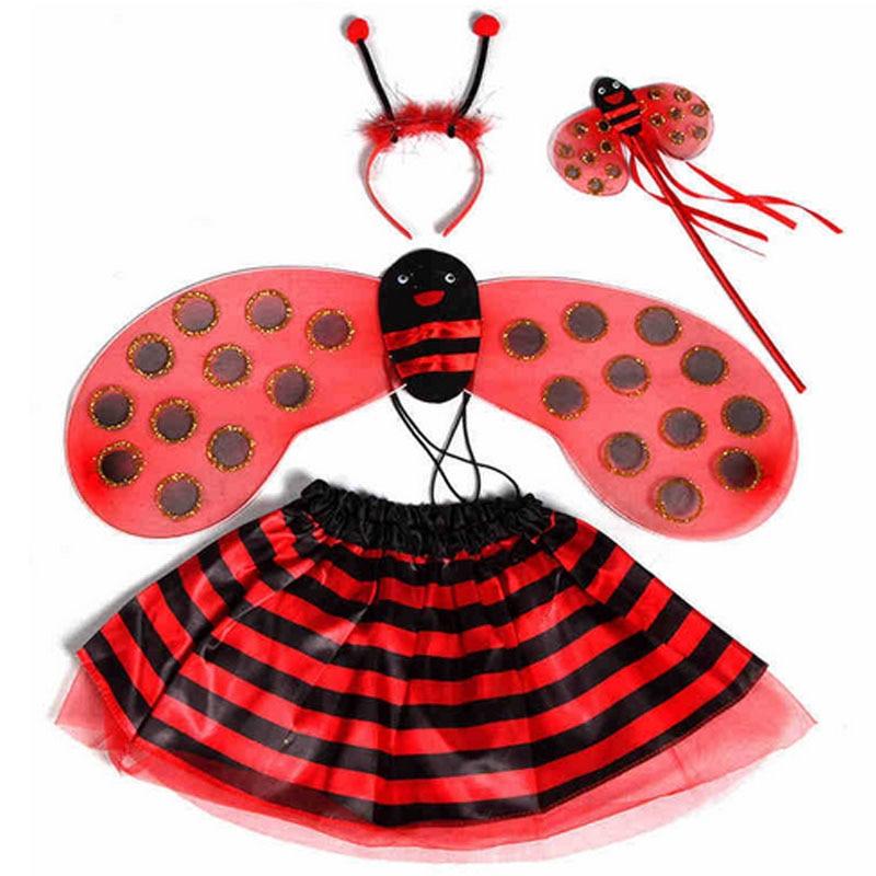 Niños niñas princesa abeja mariquita alas diadema varita de hada - Disfraces