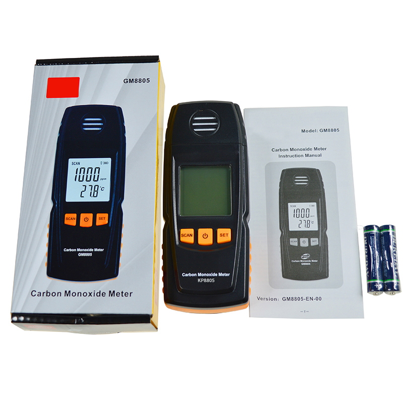 Portable Handheld Carbon Monoxide Meter High Precision CO Gas Detector Analyzer Measuring Range 0-1000ppm detector de gas carbon monoxide gas co meter detector with lcd display and sound light alarm analyzer measurement portable